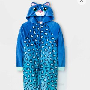 Cat And Jack  Hooded  Fleece Pajamas size L(10-12)